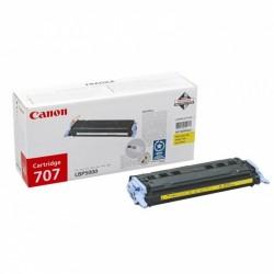 Toner original Canon CRG-707Y Yellow pentru LBP-5000