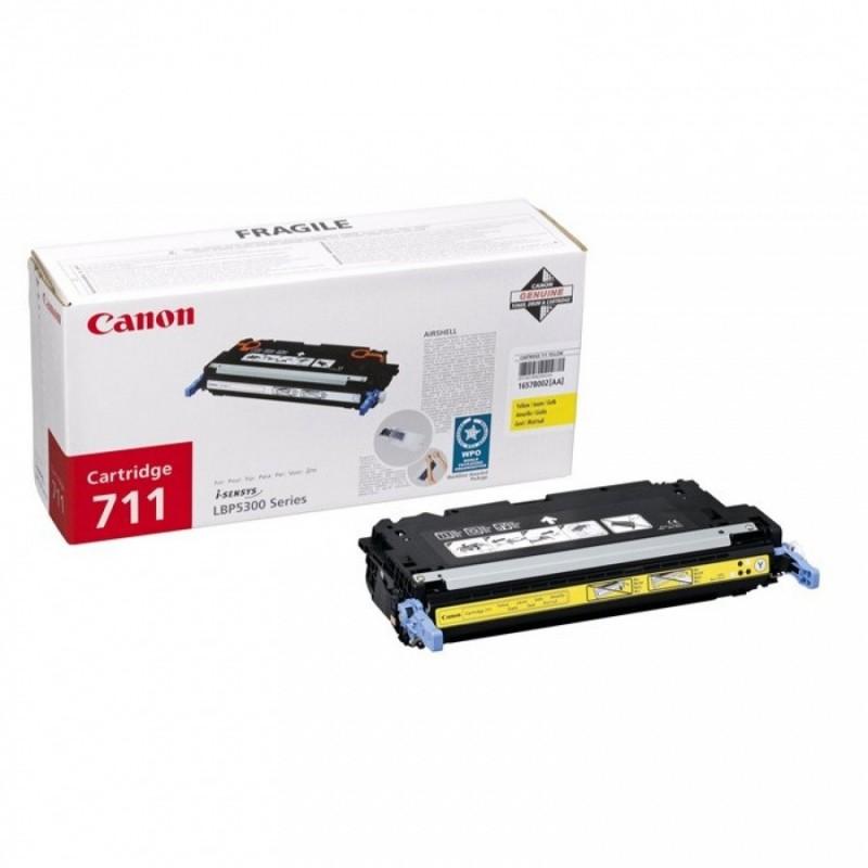 Toner original Canon CRG-711Y Yellow pentru LBP-5300 LBP-5360