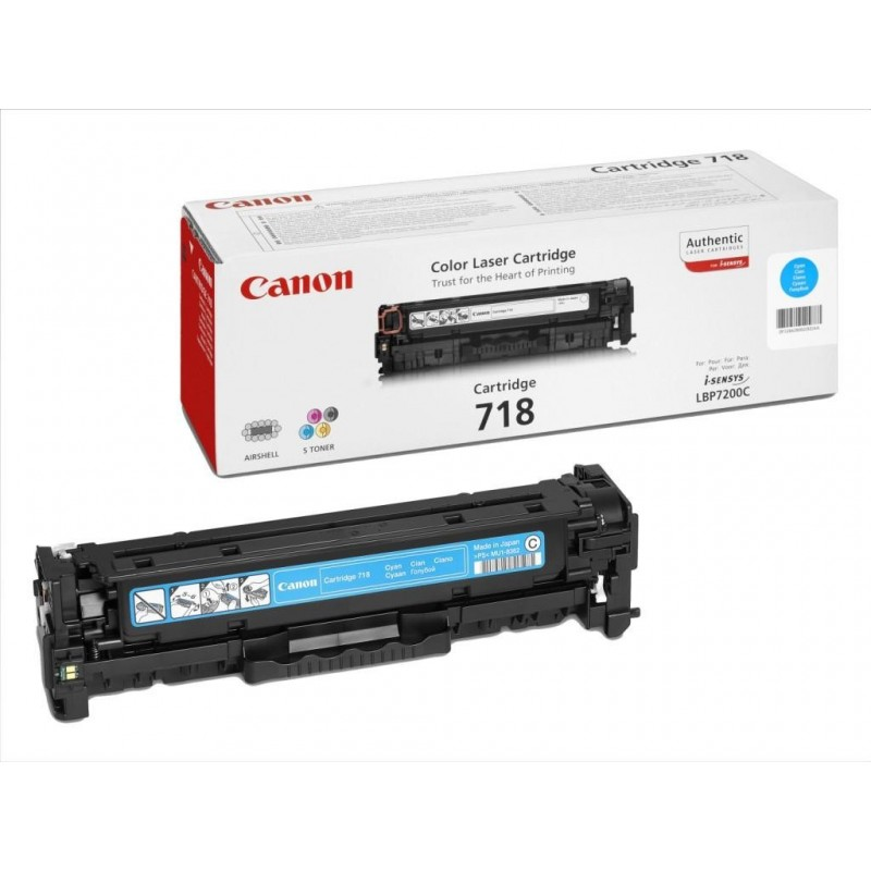 Toner original Canon CRG-718C Cyan pentru LBP-7200CDN