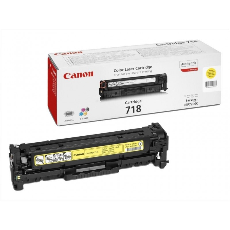 Toner original Canon CRG-718Y Yellow pentru LBP-7200CDN