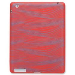 Husa Manhattan iPad Slip-Fit Design Gravat Laser Rosu Albastru