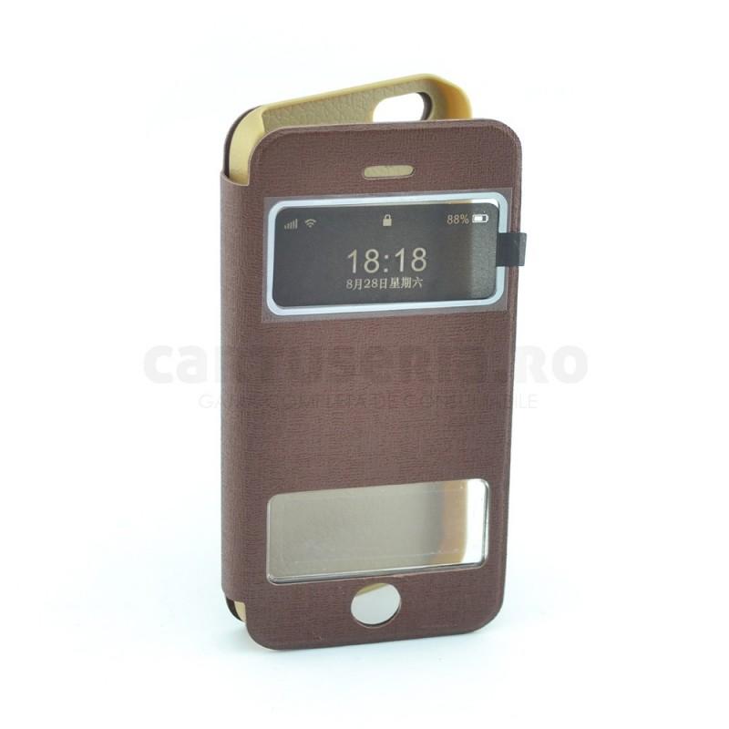 Husa tip flip pentru Iphone 5/5S cu fereastra