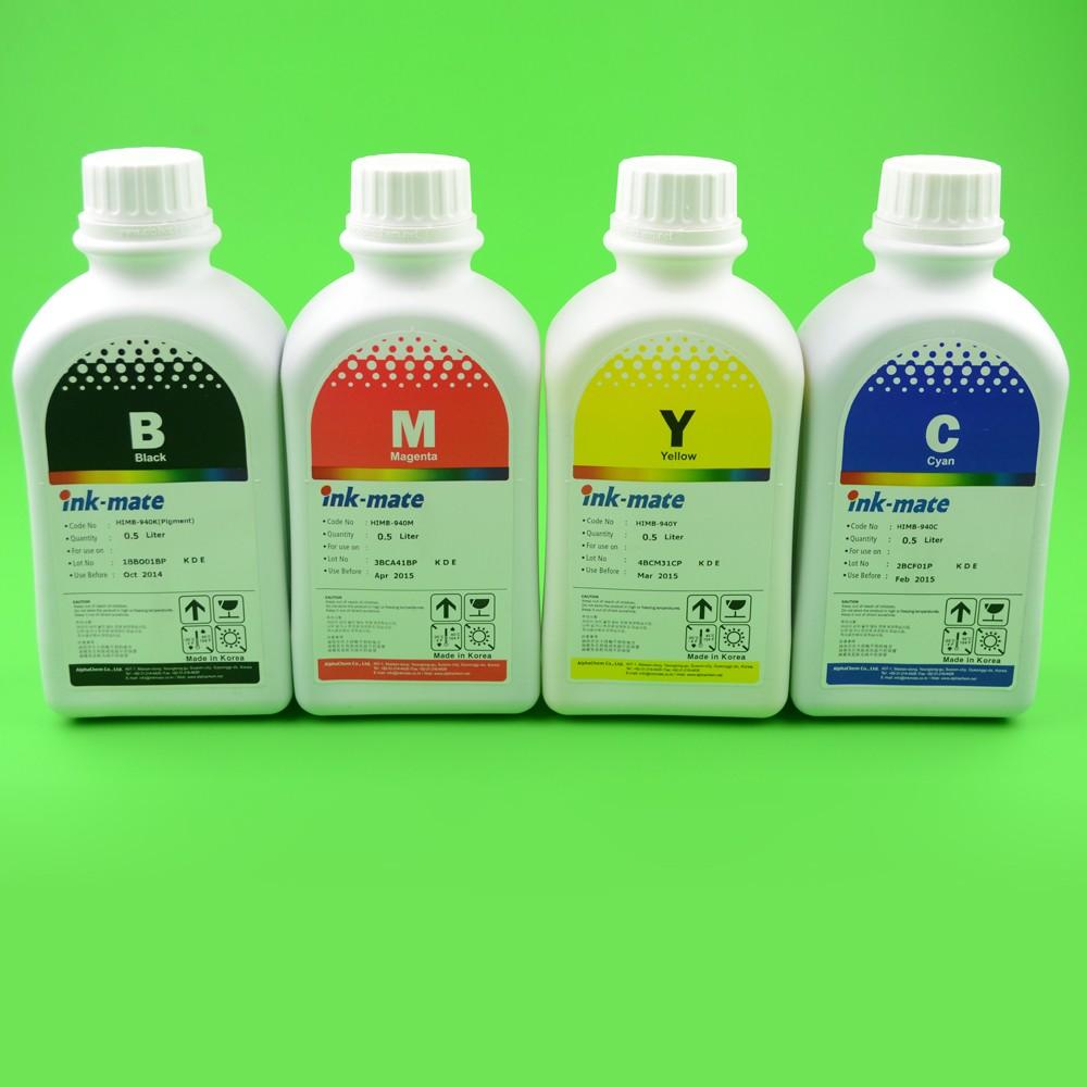 Cerneala Pigment Pentru Hp940 Hp950 Hp951 Hp933 Hp932 - Set 4 Culori Cantitate: 500 Ml