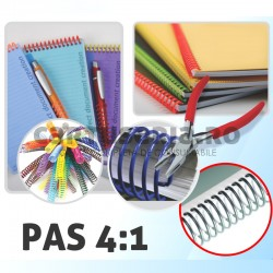 Spirala continua plastic pas 4:1 format A4
