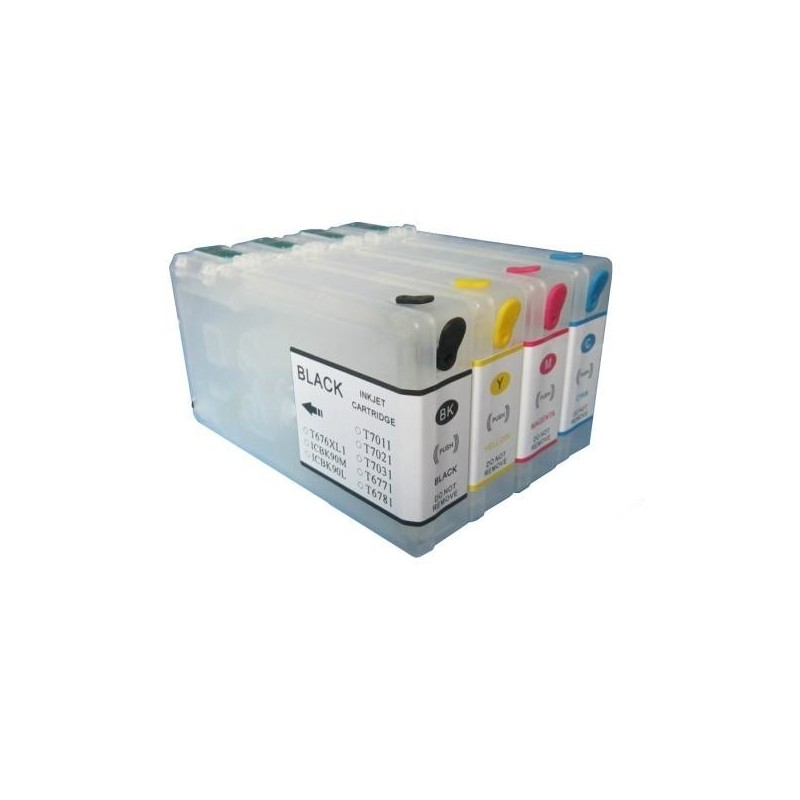 Cartuse reincarcabile seria T7901-T7904 pentru Epson WorkForce