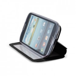 Husa compatibila LG L80 flip cu fereastra si stand