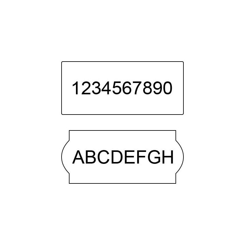 Etichete marcator 26x16R cu colturi drepte