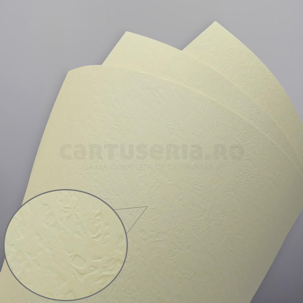 Carton Texturat Format A4 230g Top 20 Bucati Culoare: Crem textura: Piele