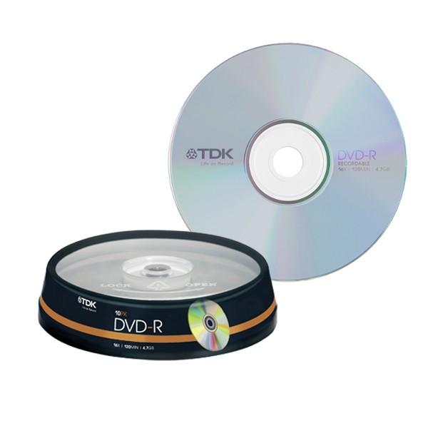 Set 10 Dvd-r 4.7gb 16x Tdk
