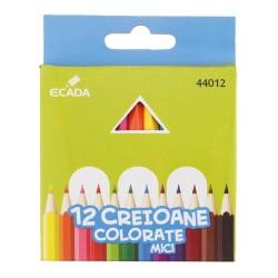 Creioane colorate asortate mici set de 12 bucati