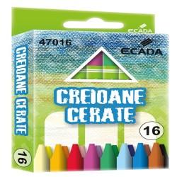 Creioane colorate cerate 90mm 16 bucati