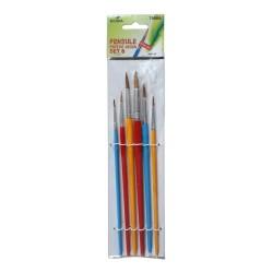 Set 6 pensule cu varf rotund Ecada