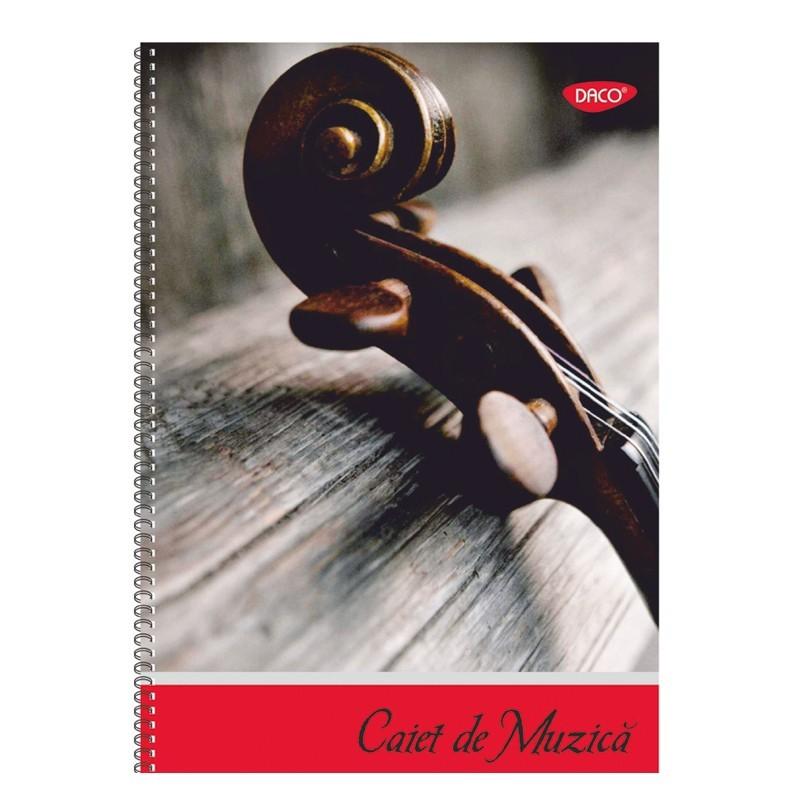 Caiet de muzica A4 cu spira 24 file Daco