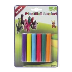 Plastilina set 6 culori Ecada