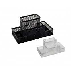 Suport din plasa metalica cu 4 compartimente pentru birou