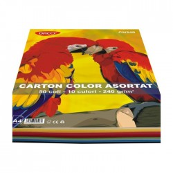 Top 50 coli carton color asortat 240g A4 Daco