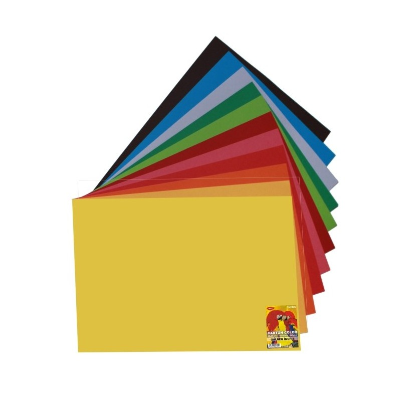 Carton color 50x65cm 240g Daco 12 culori