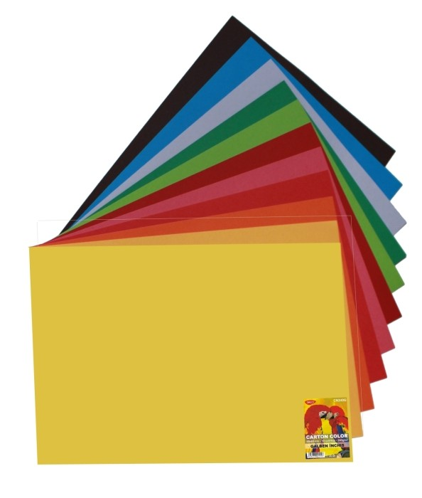 Carton Color 50x65cm 240g Daco 12 Culori Culori Carton: Negru