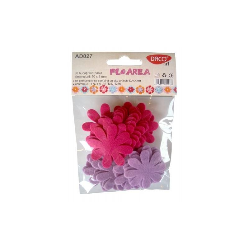 Flori autoadezive din fetru pentru lucru manual