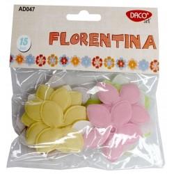 Flori cu 5 petale din material textil Daco