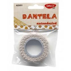 Dantela material textil bumbac autoadeziva