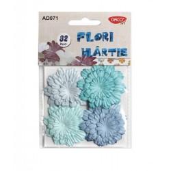 Set 32 flori de hartie colorate Daco