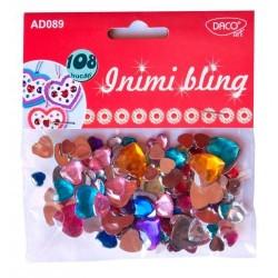 Set 108 inimioare bling culori asortate