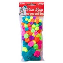 Pom-pom 7 culori neon Daco