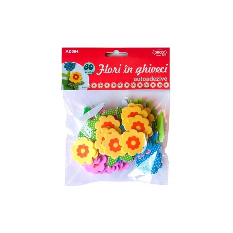 Figurine spuma - Flori in ghiveci