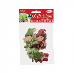 Set 25 figurine decorative din spuma - E Craciun