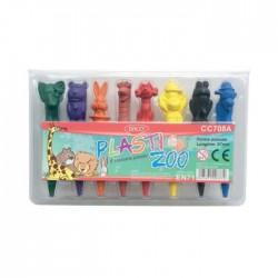 Set 8 creioane colorate Pasti Zoo Daco
