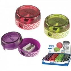 Ascutitoare plastic simpla cu container spin Milan