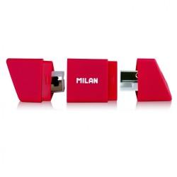 Ascutitoare plastic dubla cu container slide Milan