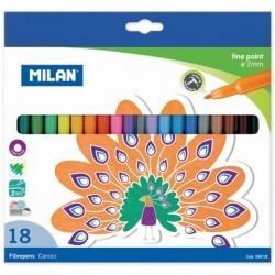 Set carioci cu 18 culori Milan