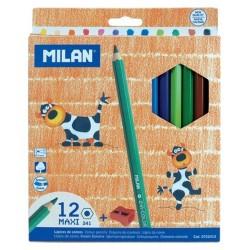 Creioane colorate in 12 culori Maxi cu ascutitoare