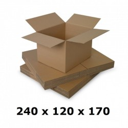 Cutie carton 240x120x170, natur, 3 starturi CO3, 435 g/mp
