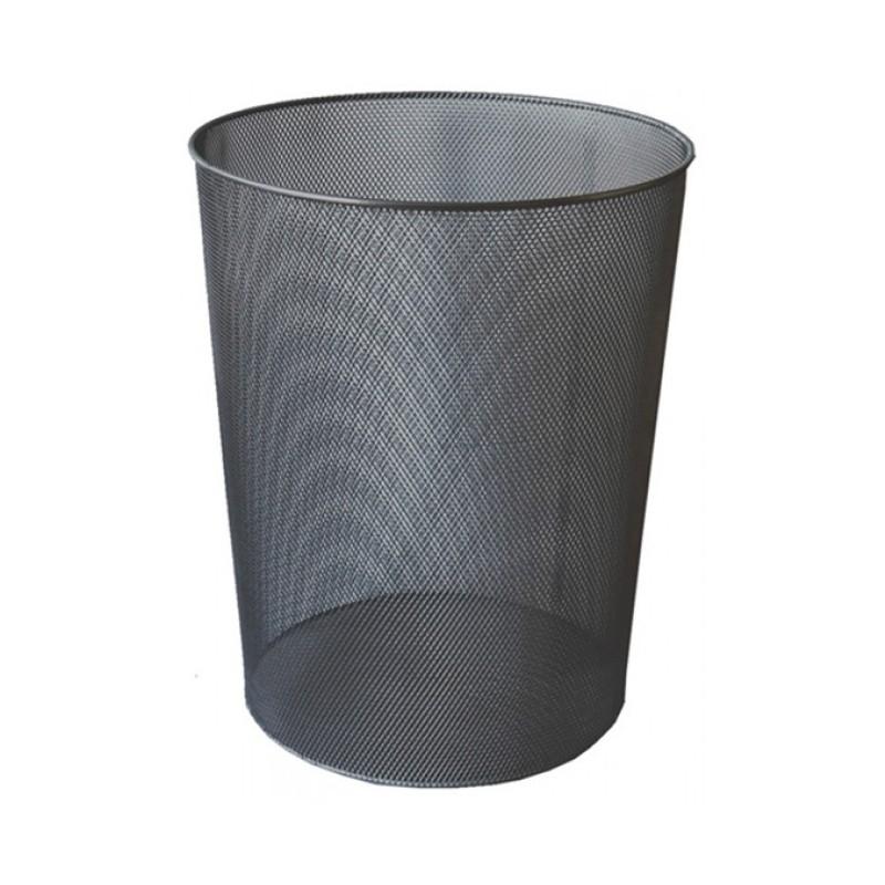 Cos de gunoi metalic Ecada, negru