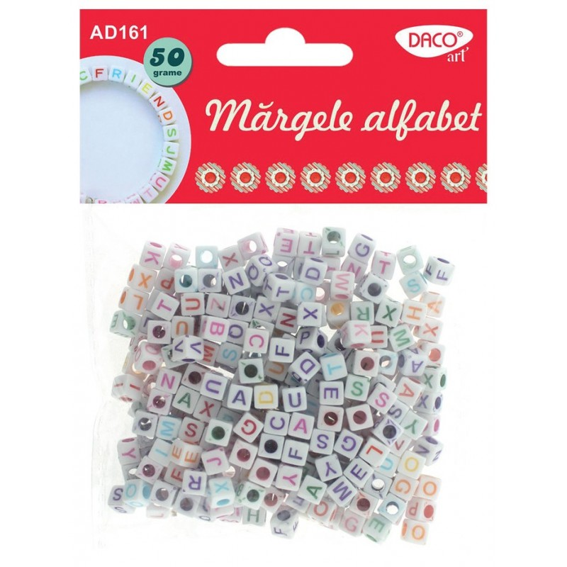 Margele decorative alfabet, 6 seturi