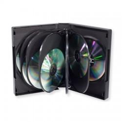 Carcasa plastic pentru 12 DVD-uri