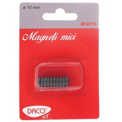 Magneti mici negri, 10 mm, set 10