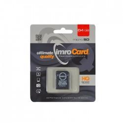 Card IMRO MicroSDHC 64 GB clasa 10 cu adaptor SD