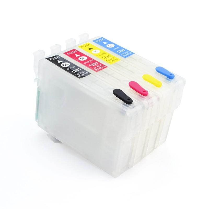 Cartuse reincarcabile pentru Epson T1291 T1292 T1293 T1294
