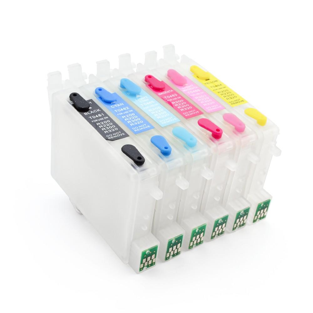 Cartuse Reincarcabile Pentru Epson T0481-t0486 Cerneala: Cu Cerneala Dye