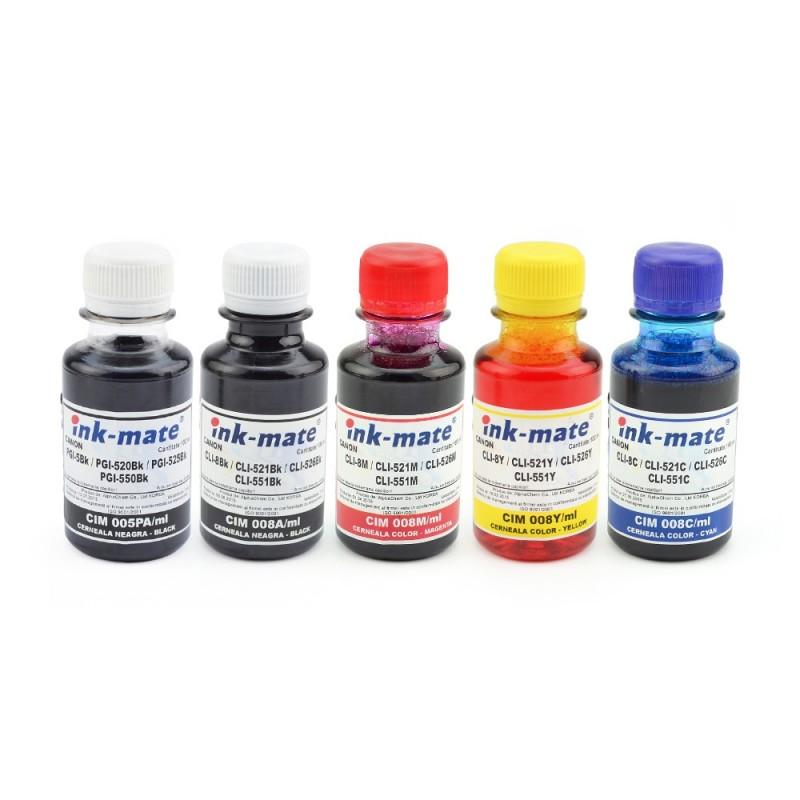 Cerneala pentru cartuse reincarcabile Canon in 4 culori 2 X Negru