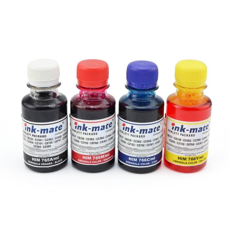 Cerneala pentru cartuse reincarcabile HP in 4 culori