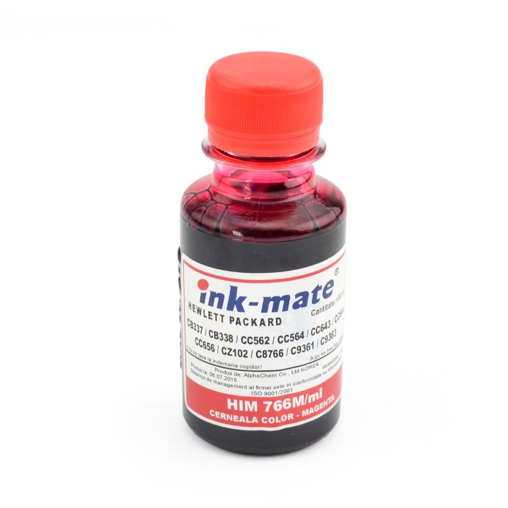 Cerneala Refil Magenta (rosu) Pentru Imprimante Hp Cantitate: 100 Ml