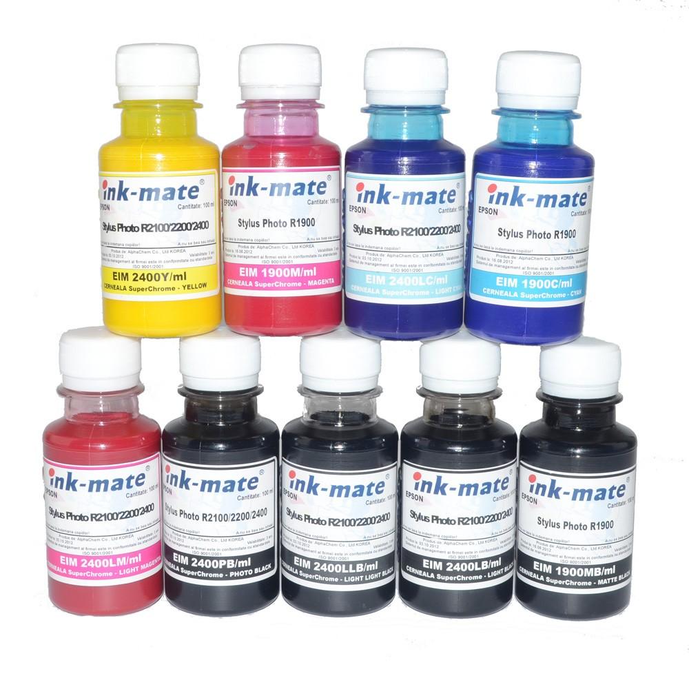 Imagine indisponibila pentru Cerneala SuperChrome pigment pentru Epson R3000 set 9 culori Cantitate : 100 ml