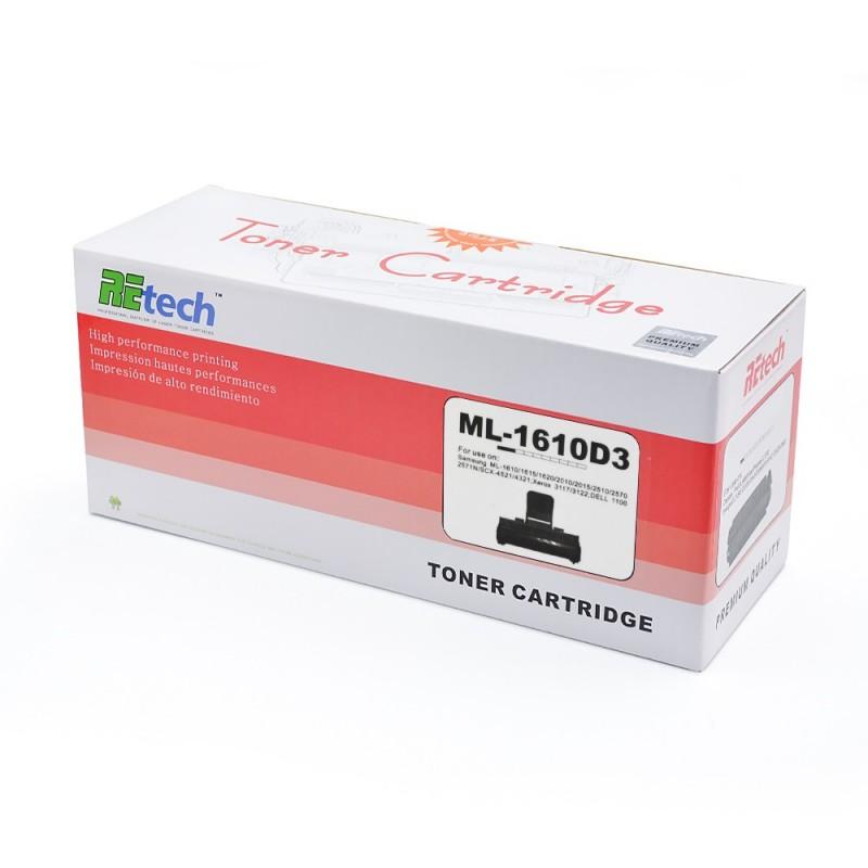 Toner compatibil de culoare neagra Samsung ML1610D3 marca Retech