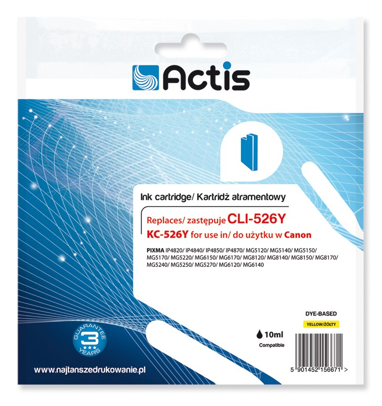 Cartus Compatibil Cli-526y Yellow Pentru Canon