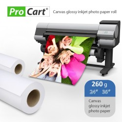 Rola foto Canvas Glossy, 260g, lungime 30 m